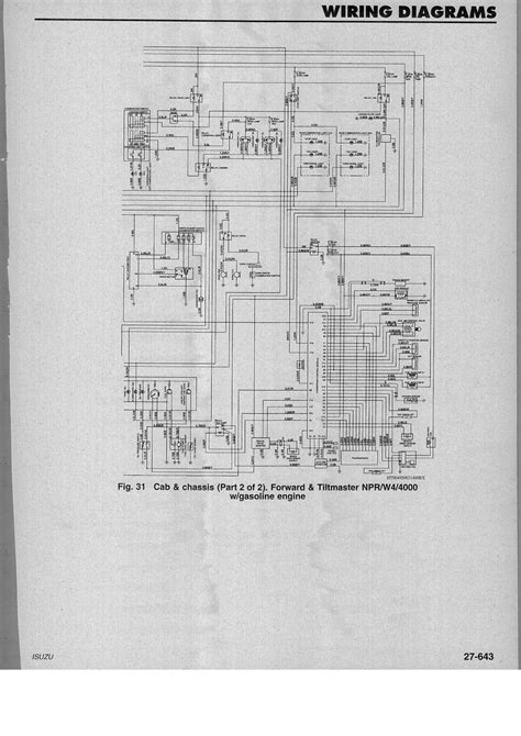 Wiring Diagram For Isuzu Npr Gas Engine