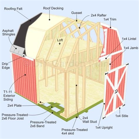 10 X 15 Shed With Loft by Gambrel Shed Plans And Sheds On