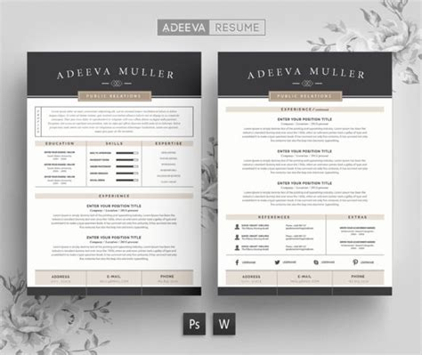 1000 ideas about modern resume template on