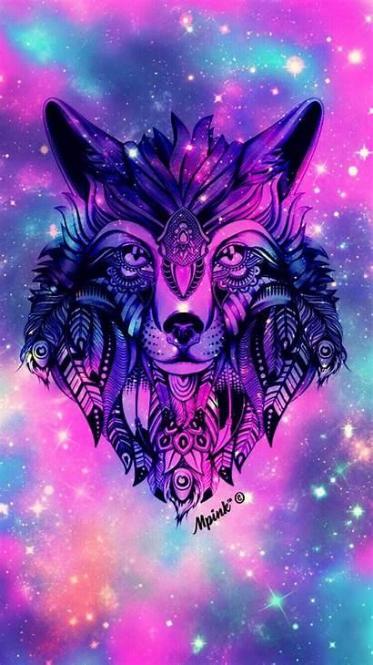 Wolf Galaxy Wallpapers Pantalla Fondos Wolves Backgrounds