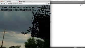 css fullscreen background image adding text  youtube