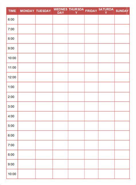 printable daily planner templates  google docs