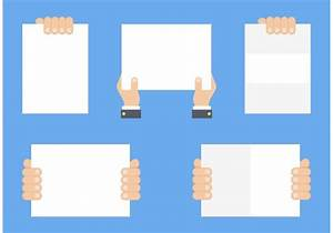 Free Hand Holding Blank Paper Vector - Download Free ...