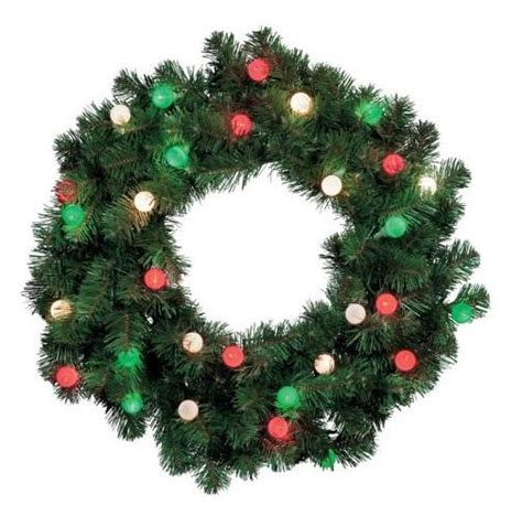 cordless outdoor pre lit wreath swag garland