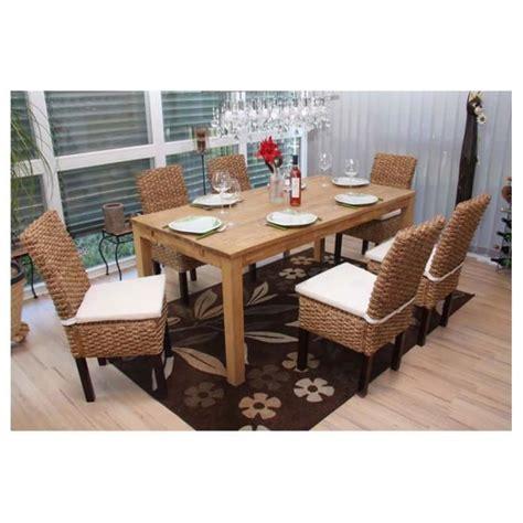 chaise fauteuil salle à manger 6 chaises salle à manger en rotin avec coussins achat