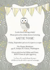 Gender-Neutral Owl Baby Shower Invitation