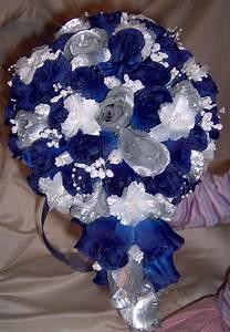 Blue silver wedding bouquet | Bouquets | Pinterest