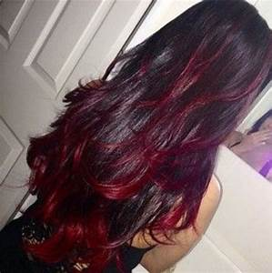 Dark Hair With Red Highlights Pictures, Photos, and Images ...