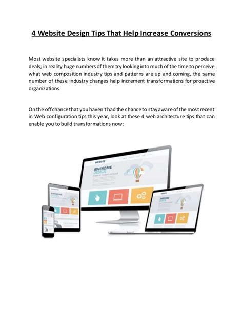 website design help 4 website design tips that help increase conversions