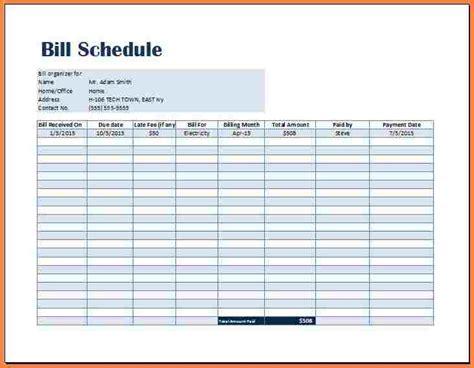 bill payment record template letter bills
