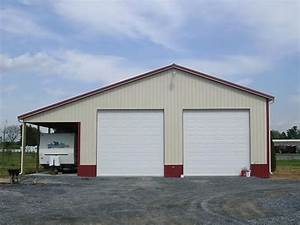 40 x 60 pole barn 4039 w x 6039l x 1639h with 1239 overhang With 60x60 pole barn