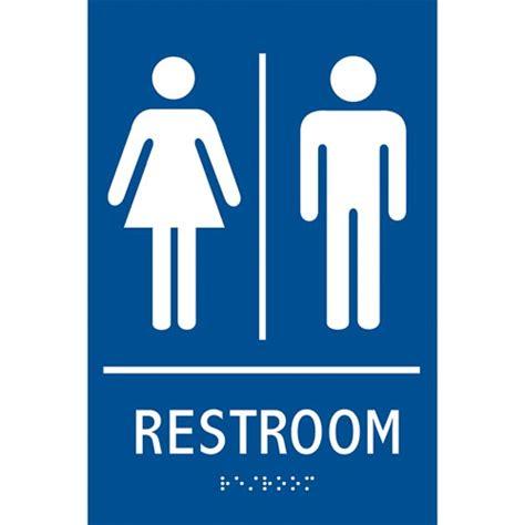 Gender Neutral Bathroom Signs by Ada Braille Tactile Gender Neutral Restroom Sign Restroom