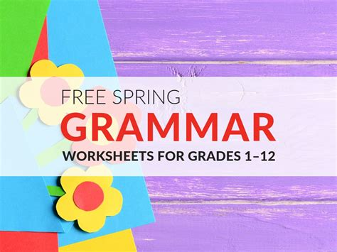 fun grammar worksheets    spring