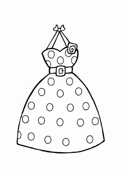 Coloring Printable Dot Polka Colorir Vestidos Vestido