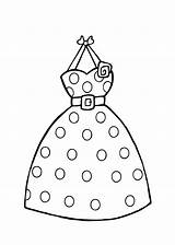 Coloring Pages Printable Clothing Colouring Dresses Dot Polka Drawing Clothes Clipart Barbie Sheets Dots Template Summer Templates Princess Nice Stores sketch template