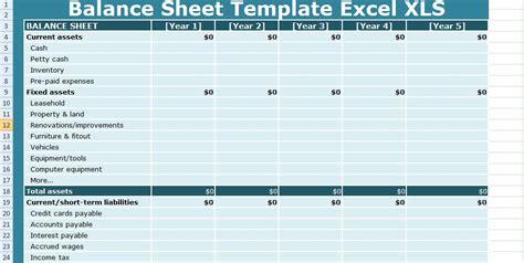 balance sheet templates excel xls  excel
