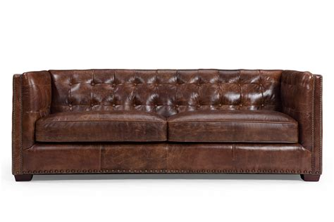 canape cuir vintage the brighton leather sofa and