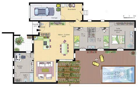 bureau center martinique maison de plain pied 6 dé du plan de maison de plain