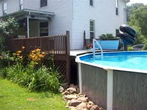 outdoor above ground pool deck ideas landscaping ideas ground swimming pools diy project as