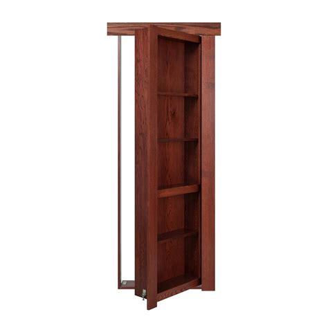 Murphy Bookcase by The Murphy Door 36 In X 80 In Flush Mount Assembled Oak