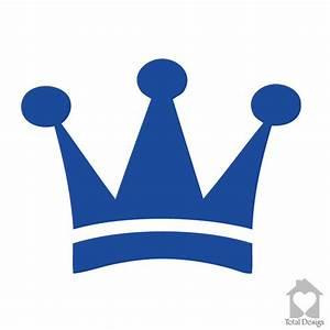 King crown - simple blue crown - simple | TotalVinylDesign
