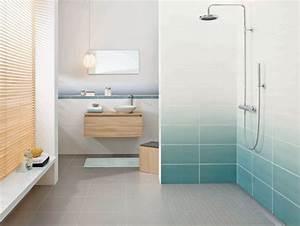 mosaique salle de bain laquelle choisir cote maison With salle de bain design avec peinture marine