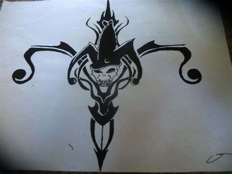 black tribal jester tattoo design jester tattoo tattoo