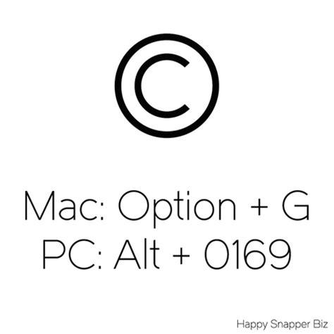 copyright symbol mac happy snapper biz blog