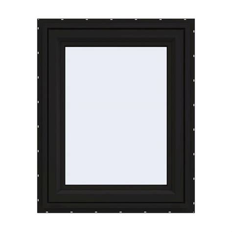jeld wen        series black finishield vinyl left handed casement window