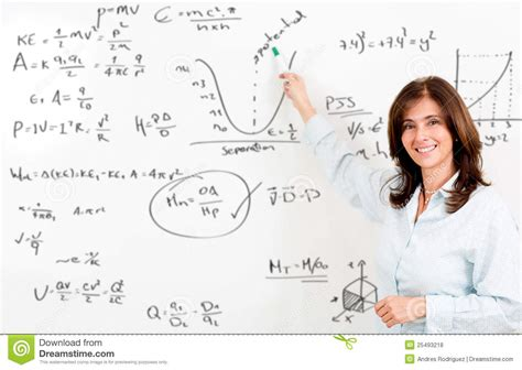 maths teacher image of content female