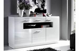 Meuble Bas Blanc Laqué : meuble tv bois et blanc pas cher ~ Edinachiropracticcenter.com Idées de Décoration