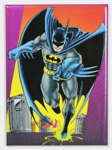 Batman FRIDGE MAGNET DC Comics Batmobile Gotham Comic Book