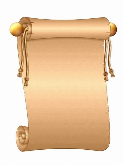 Scroll Letter Paper Roll Clipart Ancient Rolls