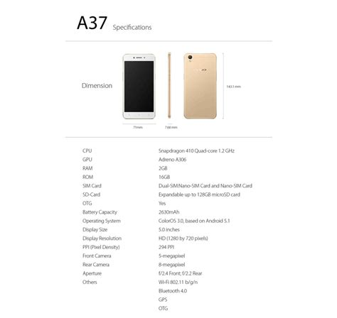 Oppo A37 2 16gb Black oppo a37 2 gb ram 16 gb rom oppo smartphone tablet