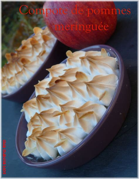 dessert avec compote de pommes compote de pommes meringu 233 e okla chahiya