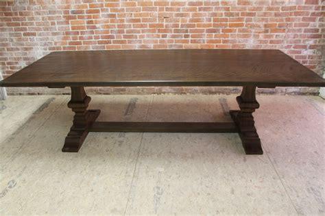 large oak venetian trestle table ecustomfinishes