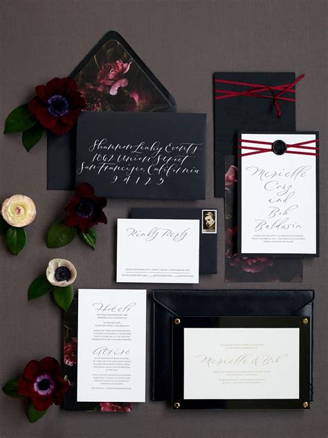 YONDER DESIGN // This luxurious and dramatic invitation