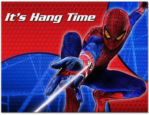 impress  guests   spiderman birthday invitations