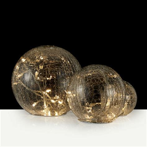 set   led crackle glass globe lights  qvcukcom