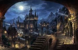 Cityscape, Dark, Fantasy, Fantasy, Art, Wallpapers, Hd, Desktop, And, Mobile, Backgrounds