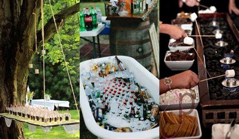20 attractive and unique outdoor wedding bar ideas