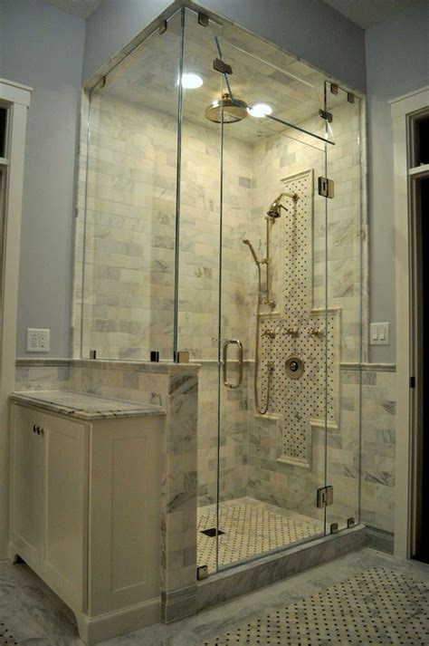 In The Shower by Corner Shower American Mirror Glass