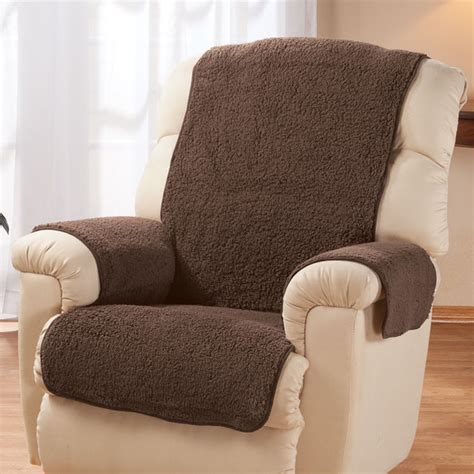 sherpa recliner protector by oakridge comforts chair