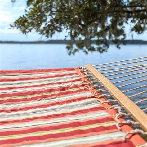 shop key west quilted red striped hammock  sale  shipping today overstock