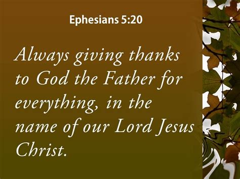 Ephesians 5 20 The Name Of Our Lord Jesus Powerpoint