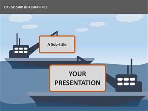 cargo ship infographics  powerpoint template