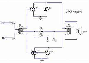 Booster Amplifier  Stereo  Using Mj2955