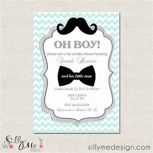 Little man custom baby shower invitation bridal by for Man wedding shower invitations