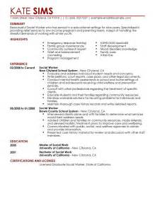 social work objective exles social work resume templates entry level free resume templates