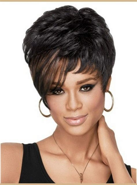 short wig hairstyles  black women cruckers